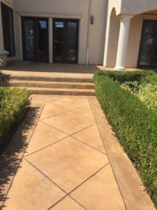 Concrete Walkway Finish
