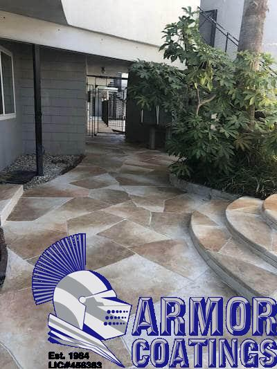 stamped concrete walkway patio